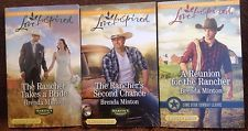 Harlequin Romance Rancher 3 pack: Heartwarming Love Inspired Series new set 555