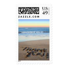 Summer Wedding Thank You Cards Beach Sunset Thank You Stamps