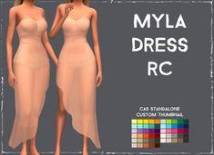 Simsworkshop: Myla Dress • Sims 4 Downloads