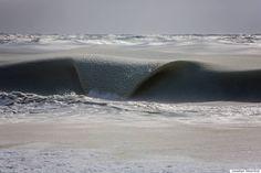Olas al borde de la congelación (FOTOS)