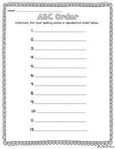 17 Best Images Of Fall Abc Order Worksheets Grade Spelling Sample Curriculum Map For And Which One Doesn T Belong