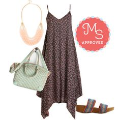 Groovin' On Dress by modcloth on Polyvore featuring outfit, boho and modcloth