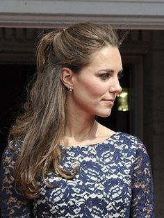 Find out how to do the half-up, half-down hairstyle like Kate Middleton's