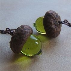 glass acorns