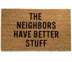 Neighbors Doormat//