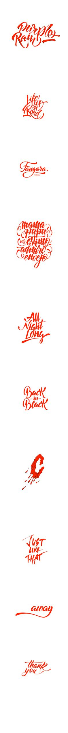 Lettering collection on Behance