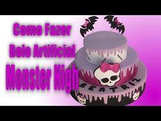 Como fazer Bolo Artificial Monster High - YouTube