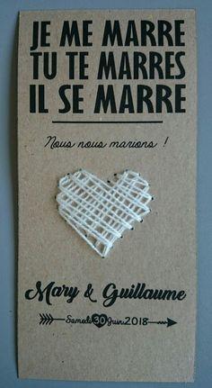 """Voici notre """"Save the Date"""" à la française. Mariage inspiration: champêtre / shabby chic."""