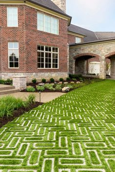 Driveway landscaping This driveway landscaping design is inspired by our Aquastorm paver. Aquastorm is an environmentally friendly, flood-protected and permeable paver with an infiltration rate through the roof. It is designed for a modern home Permeable Driveway, Driveway Landscaping, Modern Landscaping, Driveways, Driveway Ideas, Landscaping Design, Modern Driveway, Driveway Design, Driveway Border