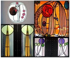 Decorative, stained glass windows, House for an Art Lover, Scotland