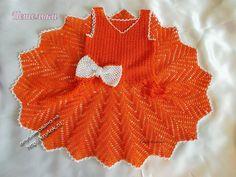 Chevron Crochet baby dress pattern. More Great Looks Like This
