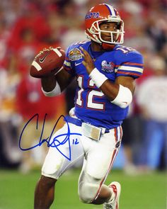 Chris Leak florida gators bcs championship autographed photograph, Gator QB 2003-2006, Ranks fourth on the all-time UF lists in yards passing (8,271), completions (663) and fifth in attempts (1,023)