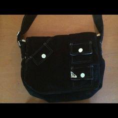 Black Roxy Purse Black Courderoy Roxy Purse- excellent condition. Roxy Bags