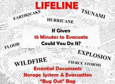 If given 15 minutes to evacuate, could you do it with all of your essential documents and 72 hours worth of  clothing, food, toiletries, medications, etc.?