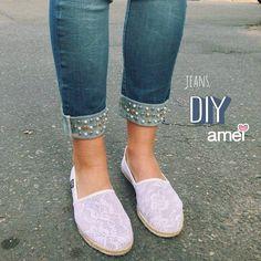 Único no mundo.  #lojaamei #jeans #calcajeans #diy #cute #alpargata #fashion
