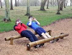 Image result for outdoor wood fitness trails with exercise stations