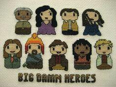 Firefly cross stitch. Click for patterns and more Firefly stitchery!