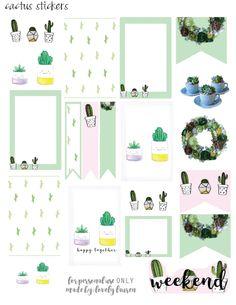 Cactus Planner Stickers