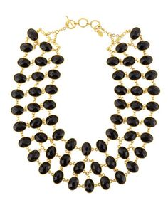 Reversible+3-Row+Faceted+Necklace,+Black/Green+by+Amrita+Singh+at+Last+Call+by+Neiman+Marcus.