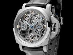 Panerai Luminor Lo Scienziato Tourbillon GMT Titane : 150 ex Panerai Luminor 1950, Panerai Watches, Breitling, High End Watches, Cool Watches, Watches For Men, Fine Watches, Men's Watches, Men's Accessories
