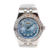 Breitling Windrider Starliner A71340 Ladies Watch Diamond Bezel