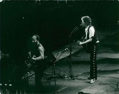 Vintage photo of Concert image on Bob Dylan taken at one of his gigs.