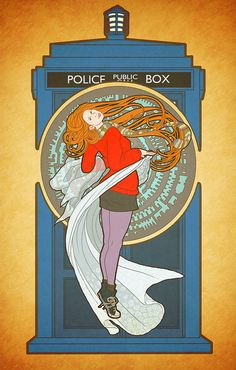 Amy Pond (by way of Alphonse Mucha) by Bill Mudron