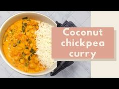 Coconut Chickpea curry | VEGAN recipes for BEGINNERS - tasty - YouTube Vegan Recipes Beginner, Recipes For Beginners, Chickpea Coconut Curry, Coconut Cream, Tasty, Simple, Ethnic Recipes, Youtube, Food