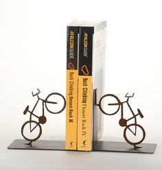 Mountain Bike Bookends Bicycle Art Home Decor by ShineOnSportyGirl
