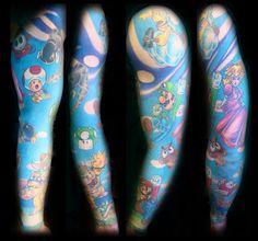Mario World Tattoo