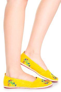 sapatilha bordada - Calçados   Dress to