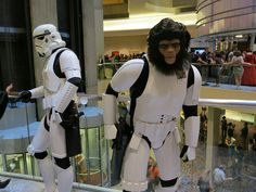 Planet of the Apes meets Star Wars with TKChimp at Dragon*Con 2012 - photo by  Kristin Brenemen