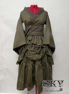 Custom Bustled Kimono Set. $105.00, via Etsy.