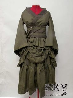 Custom Bustled Kimono Set. $105.00, via Etsy.  Such a great combination of steampunk and silk road!