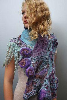 felted scarf  ❤️❤️❤️