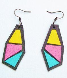 Bright, bold eyecatching colourful leather jewellery! Necklaces, rings, earrings bracelets Laroca Tribe brand. https://www.etsy.com/uk/shop/LarocaTribe