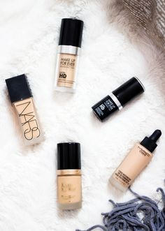 The BEST Foundations of 2015 | For all skin types and amazing coverage!