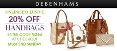 20% Off Handbags #Debenhams
