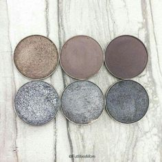 pinterest: @lilyosm | grey z palette eye shadows pigments shimmer glitter matte grey nude neutral tones
