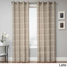 Kaili Faux Linen Grommet Top Curtain Panel - Overstock™ Shopping - Great Deals on Softline Curtains