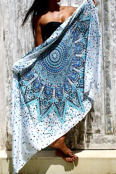 Beach Sarongs/Scarves/Shawl fringes/Boho/ Beach cover up/pareo sarong wrap/Swimsuit cover up  * DOTS SARONG