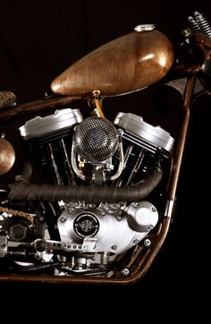 ♂ Masculine & elegance auto details brown motorcycle