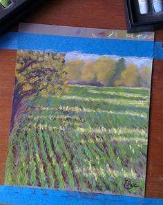 Study with Unison Colour pastels on pastelmat. Etude avec pastels Unison Colour sur pastelmat. 20x20 cm.