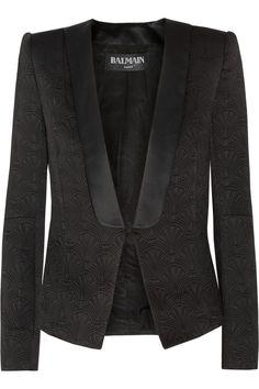 Balmain | Quilted satin tuxedo jacket | NET-A-PORTER.COM
