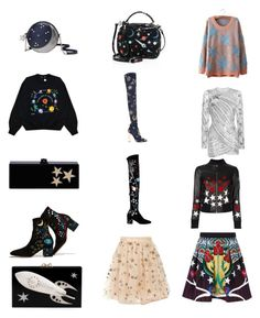 """""""Star Collection"""" by spectrearcane ❤ liked on Polyvore featuring Kate Spade, Edie Parker, Valentino, Charlotte Olympia, Mark Cross, Emilio Pucci, Elie Saab, Hollywood Trading Company and Mary Katrantzou"""