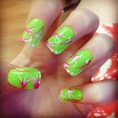 green and pink! very bright