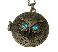 70cm Owl Bronze Sweater Chain Jewelry Vintage Necklaces Charms