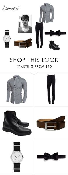 """Untitled #83"" by flowerpotflute ❤ liked on Polyvore featuring Thom Browne, Common Projects, To Boot New York, DUO, Skagen, Lanvin, men's fashion and menswear"