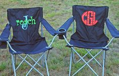 Monogrammed Captain's Chair- perfect for tailgating, sporting events, music festivals or the beach!