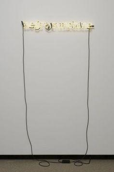 Glenn Ligon, Untitled (negro sunshine), 2005. Neon. Harvard Art Museums/Fogg Museum.
